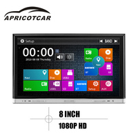 APRICOTCAR 8 Inch Car DVD 2din GPS Navigation Multimedia Player Built In Bluetooth Hands Free FM
