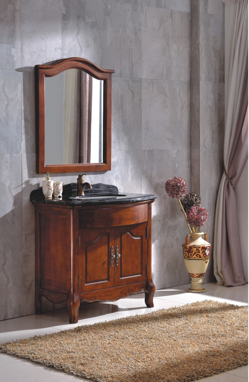 Bathroom Furniture Suppliers - 2017 solid wood bathroom furniture cabinet supplier in china 0281