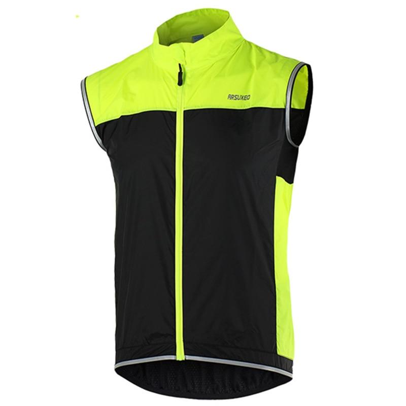 Cycling Reflective Wind Vest Windvest Sleeveless Outdoor Sports Jersey Gilet
