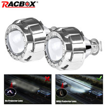 2 pcs inch Car Projector Lens Universal Bi Xenon HID Silver Shroud Retrofit For H1 Bulb H4 H7 Motorcycle Headlight DRL
