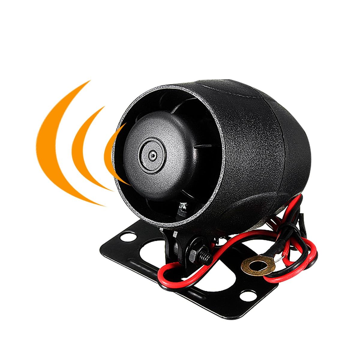 Safurance 12V DC Car Van Truck Auto Bike Vehicle Alarm Warning Siren Horn Security Black Home Safety