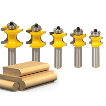 Durable 5Pcs 1/2 Shank Tenon Half Round Bullnose 3/8,5/16,1/4,3/16,1/8 Router Bits New