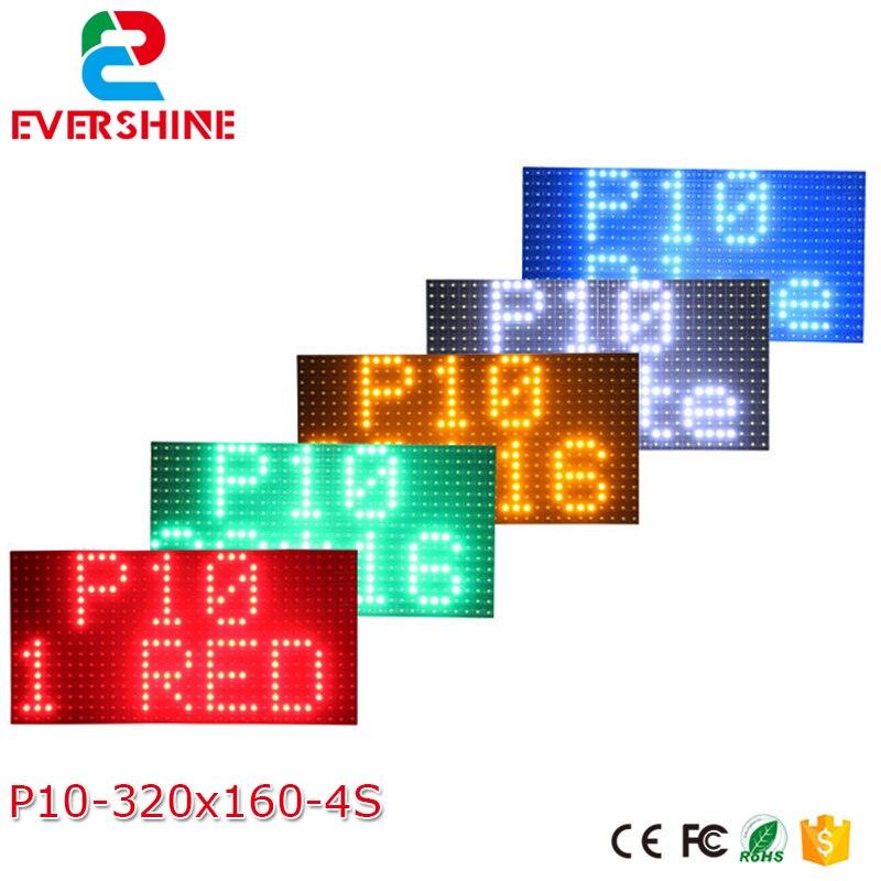 P10 ao ar livre à prova dwaterproof água único vermelho branco azul greenyellow cor rolagem programa sinal de mensagem led módulo exibição