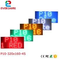 P10 im freien wasserdichte einzelne Rot Weiß Blau Grüngelb farbe scrollen programm nachricht Zeichen LED Display Modul-in LED-Module aus Licht & Beleuchtung bei