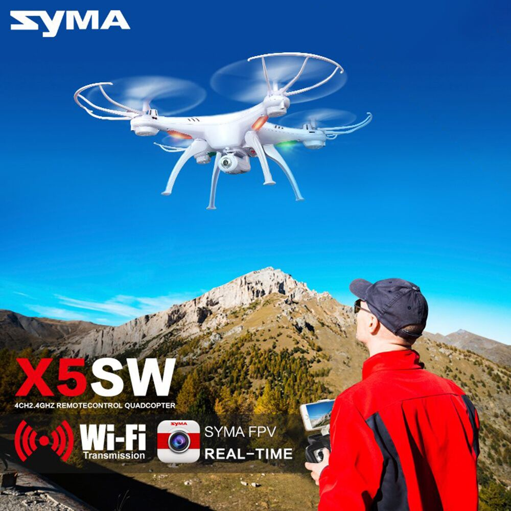 Syma X5SW Drone with WiFi Camera Real-time Transmit FPV Quadcopter (X5C Upgrade) HD Camera Dron 2.4G 4CH RC Helicopter # 720p hd wifi fpv camera phone clip holder for syma x5 x5c x5sc x5sw h5c drone jjrc h5c rc quadcopter part fpv real time camera