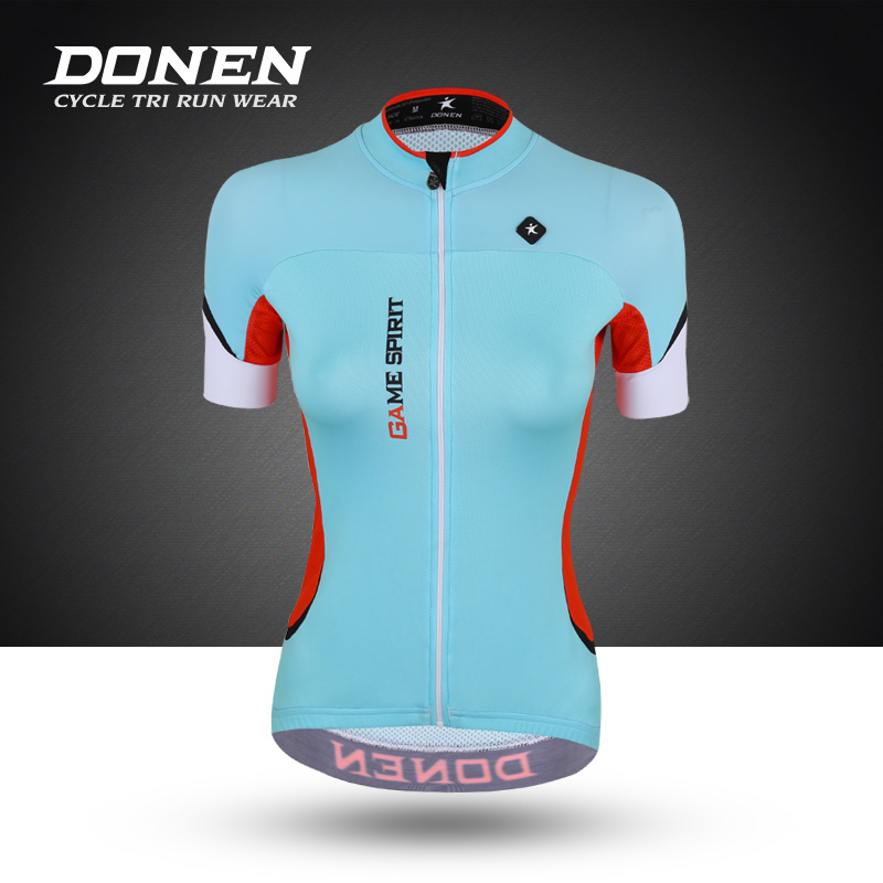 DONEN Women's Sprots Summer riding Jerseys Women's short sleeve breathable speed cycling Road bike ride clothing equipment ckahsbi winter long sleeve men uv protect cycling jerseys suit mountain bike quick dry breathable riding pants new clothing sets