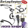 4-010S D ring Ear Loop Earpiece with PTT (S Plug)