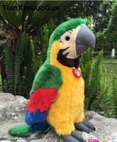 about 26cm colourful green parrot plush toy soft doll birthday gift s0278