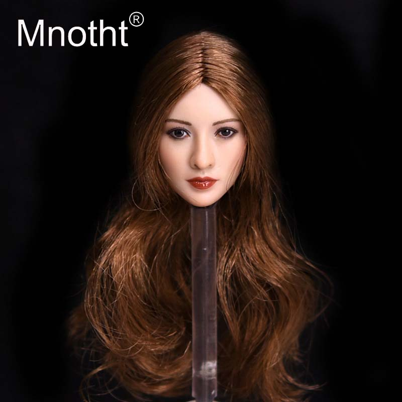 Mnotht Toys 1:6 Scale Female Asian Chinese Beauty Star Head Sculpt Black/Golden Hair Liu Yifei Tian Jing Head Carving Toys m3 mnotht toys 1 6 vivian hsu head sculpt female asian beauty head carving model fit for 12in ph ht female soldier body m3
