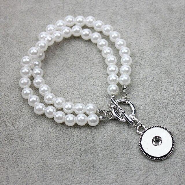 Imitation Pearls Snap...