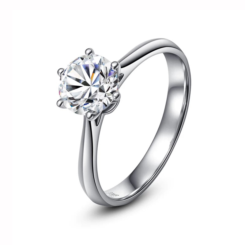 925 sterling silver 1ct 2ct 3ct Classic Round Brilliant Cut Ring Diamond jewelry Moissanite ring Engagement Anniversary Ring