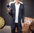 Autumn Men's New knitted cardigan fashion casual long hooded sweater coat Slim sweater tide sweatercoat clothing