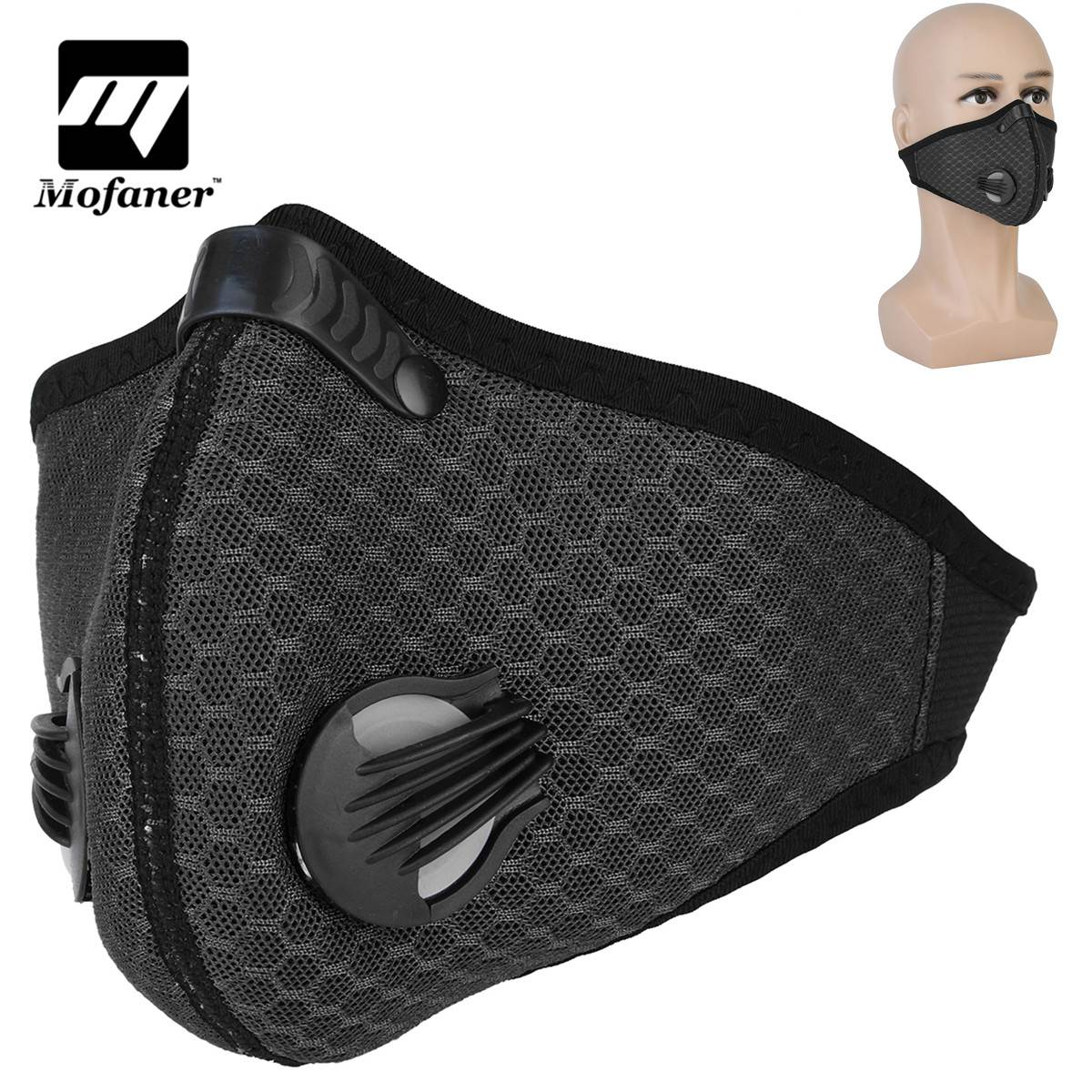 Mofaner Cycling Sport Mask Activated Carbon Air Filter Motorcycle Outdoors Masks Fashion Mouth-Muffle Dust Half Face Cover