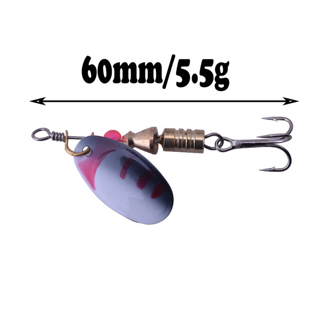 WDAIREN Metal Fishing Lure 1Pce 2.5g 3.5g 5.5g Spoon Lure Spinner Bait Fishing Tackle Hard Bait Spinner Bait Isca Artificial