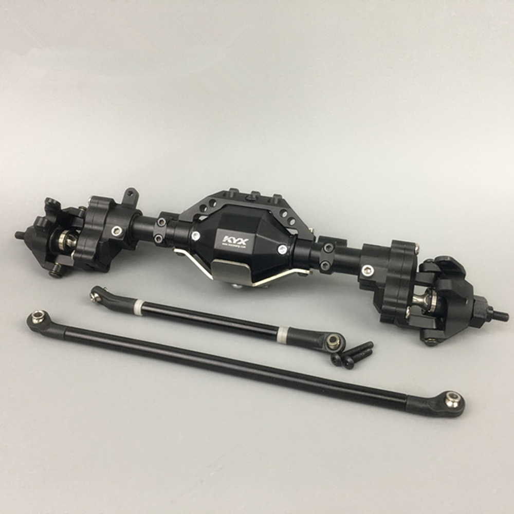 New design metal widen and heighten front axle w/ pull rod set assembly for 1/10th scale axial scx10 90046 cherokee model car