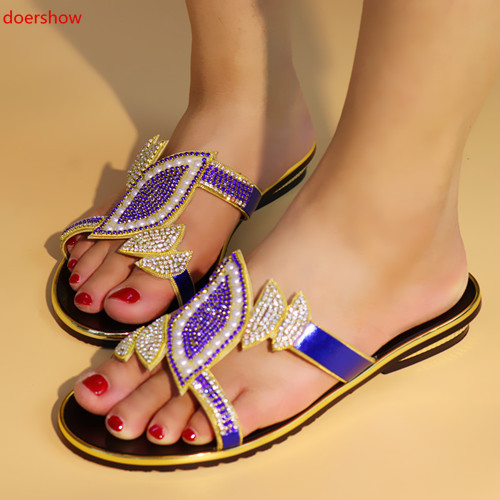 5f1a7b0fd105 doershow Speacial Italy design sandals African pu leather BLACK shoes nice  heel