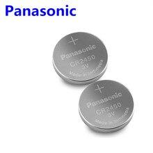 2 шт. Panasonic CR2450 CR 2450 3 В литиевая Кнопочная батарея батареи для часов, часов, слуховых аппаратов