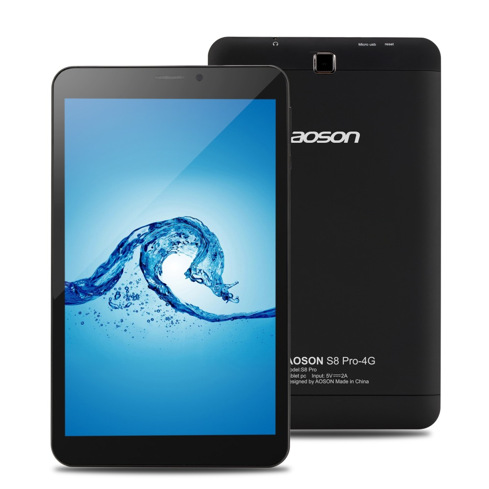 Aoson S8 PRO 8 pouce tablet Android 6.0 4g Appel Téléphonique Comprimés 16 gb + 1 gb Quad Core MTK8735B Quad Core 1.3 ghz SIM GPS WIFI Tablet Pc