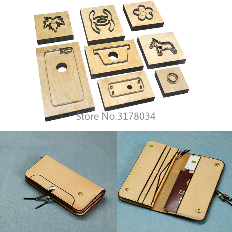 Japan Steel Blade Rule Cutting Dies Punch Wallet Cutting Mold Wood Dies for Leather Cutter for Leather Crafts A20Japan Steel Blade Rule Cutting Dies Punch Wallet Cutting Mold Wood Dies for Leather Cutter for Leather Crafts A20