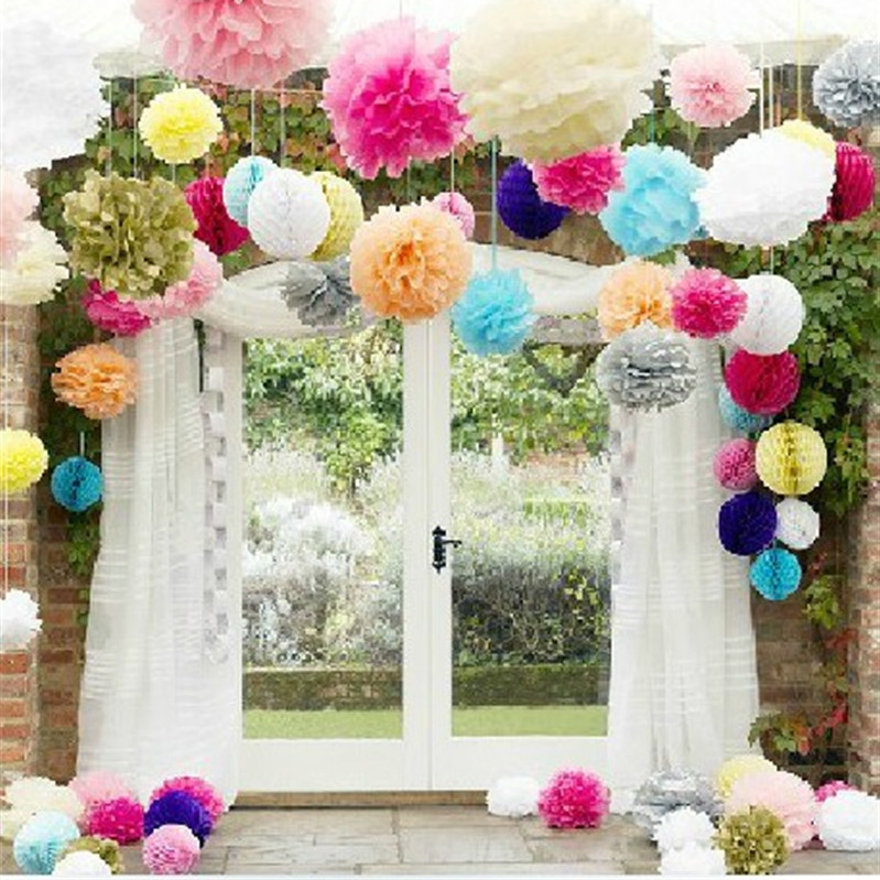 6inch Simulation Peony Flower DIY Paper Flower Ball Romantic Wedding Decoration Crafts Home Party Decorative Paper Flowers