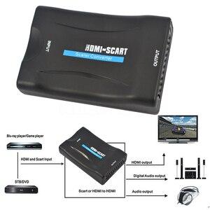 Image 4 - Kebidu 1080P HDMI إلى سكارت فيديو الصوت الراقي محول HD استقبال للهاتف التلفزيون مع قوة داعم محول HDMI 1080p AV