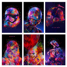 Alessandro Print Canvas Wall Art Poster Abstract Star Wars ET Clown Painting Pictures For Living Room Home Decor