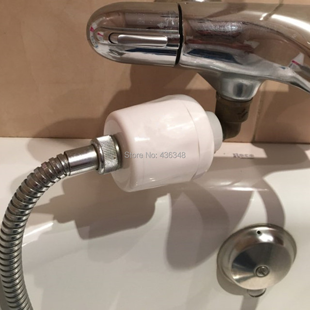 Bathroom In Line Shower Head Filter Water Softener Purifier Rust ...
