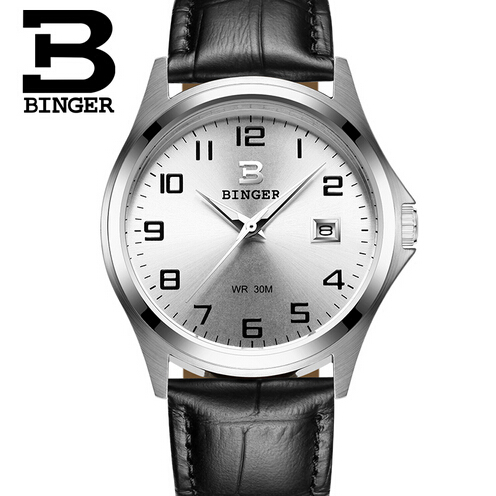 Geneva Brand Binger Fashion Sport Men Watch Leather Quartz Watch Casual Watches Hour montre homme relogio masculino reloj hombre geneva brand fashion rose gold quartz watch luxury rhinestone watch women watches full steel watch hour montre homme reloj mujer