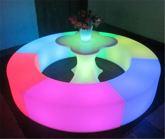 Arc LED Chair Style Plastic Table And Chair Set Led Chair Furniture  Decoration For Home Hotel Party Bar Dining Beach Chair In Bar Chairs From  Furniture On ...