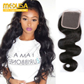 Cheap 8A Grade Best Brazilian Body Wave Closure Bleached Knots Wet And Wavy Middle Free Part Lace Front Closure Piece Slove Hair