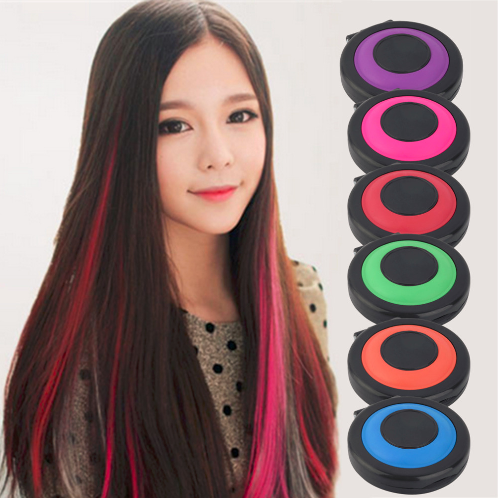 6 Hair Colors Non Toxic Healthy Temporary Hair Styling Soft Dye