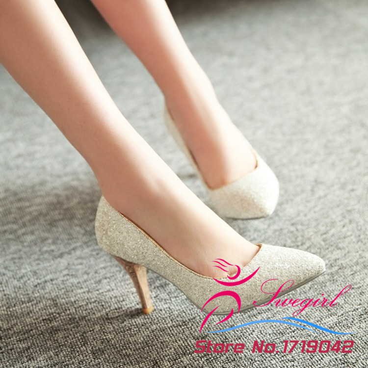 2015 new Cinderella shoes cosplay girls lady woman twinkling Shining  Rhinestone high heeled wedding shoes Pumps and gift packing-in Women s Pumps  from Shoes ... 320d0938b72d