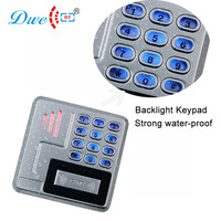 DWE CC RF access control card reader contactless card 125khz rfid reader backlit number key reader with IP 68 waterproof