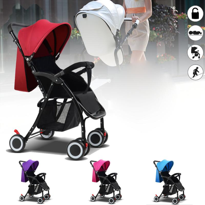 Foldable Baby Kids Travel Stroller Newborn Infant Pushchair Buggy Pram Lightweight Baby Carriage Can Sit Can lie certified baby products baby buggy stroller with pad 600d oxford fabric kids pram and strollers 4 colors infant carriage on sale