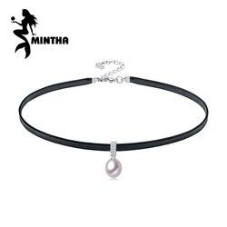MINTHA perlenkette, natürliche weiße perle, halskette, perlenkette choker halskette frauen Feine hochzeit engagement schmuck