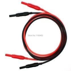 TL491 Hohe Qualität 13AWG 2.5mm2 flexible silikon 4mm Einziehbaren Stecker Messleitung Patchkabel