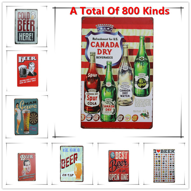 New Canada Day Chic Home Bar Vintage Metal Signs Home Decor Vintage ...
