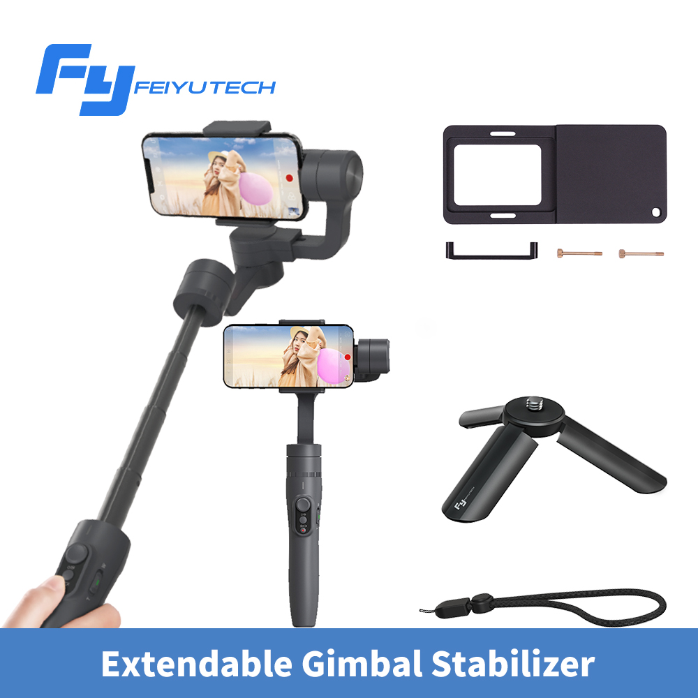 Feiyu vimble 2 vimble2 Smartphone Handheld 3-Axis Gimbal Stabilizer blueteeth selfie stick for iPhone X Gopro Hero Smooth Q