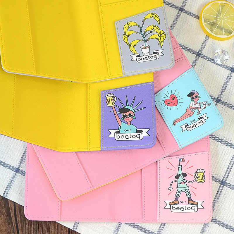Чехол для паспорта в стиле хип-хоп для путешествий, Женская оригинальная обложка для паспорта с граффити, голубой чехол для паспорта для девочек, кошелек для паспорта 10*15 см