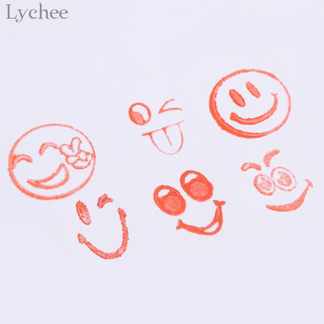 Online Shop Lychee 10pcs Cartoon Emoji Stamps Smile Face