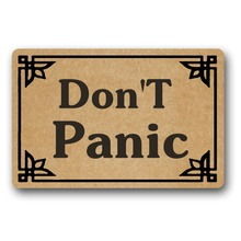 Door Mat Entrance Mats DonT Panic Non-slip 18x30inch front entrance door outdoor decor indoor funny floor mats