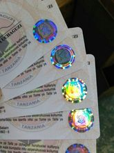 Custom Security Hot Stamping Hologram PVC Card Printing