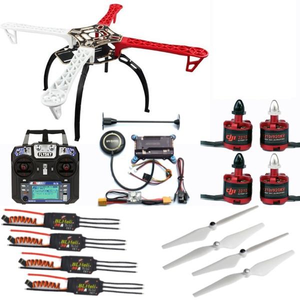 F450 Quadcopter marco Drone Kit + 2212 920KV/1000KV Motor + BLheli 30A ESC + 9450/1045 Prop + APM + control remoto con receptor DIY