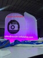 Белая ткань Оксфорд Надувные телефонная будка, надувные Photo Booth с бесплатной доставкой;