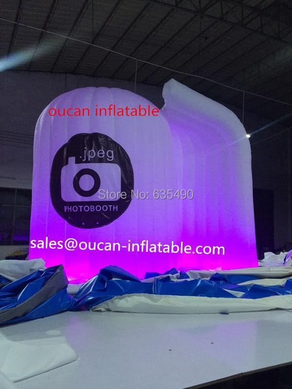 Branco oxford pano inflável cabine de telefone, cabine de fotos inflável  com frete grátis 0d5db8ad6a