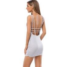 Brand Sleeveless Backless Women Dress Elegant Night Club Sexy Mini Vestidos  De Festa Clothes Bandage Evening cbd1038fa