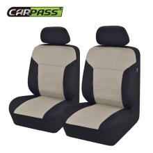 Car-pass 2 Front Seat Covers Universal Gray Red Blue Beige Car Styling Interior Accessories Auto Protector