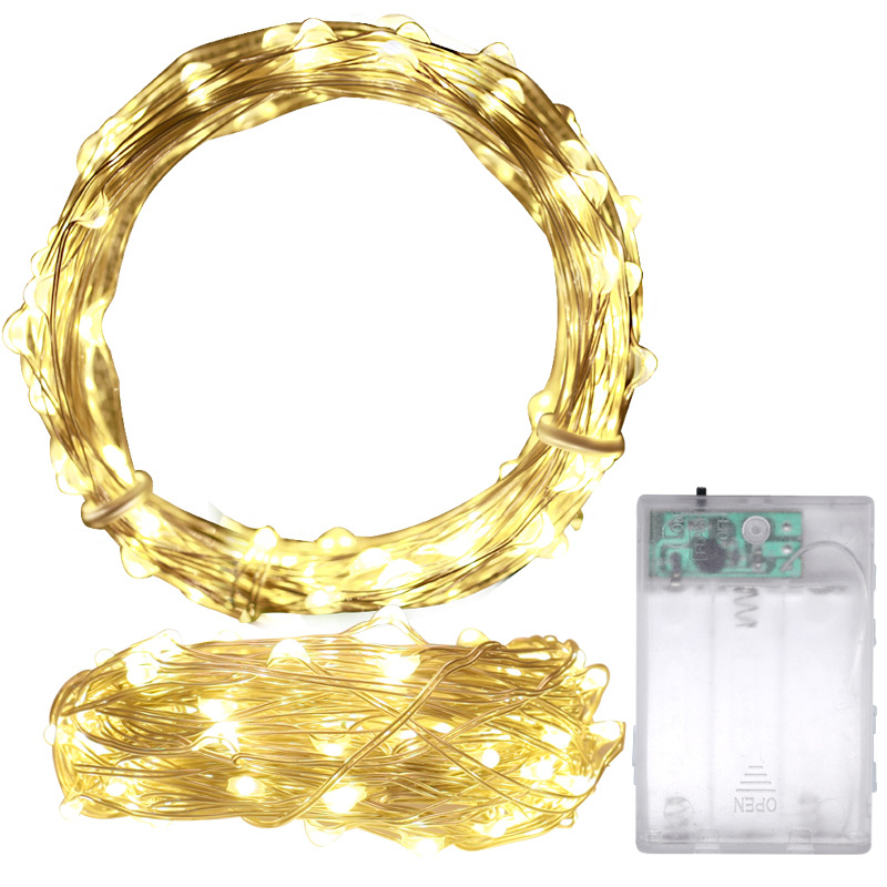 2M 4M Copper Wire Fairy Lights String Led Garland Holiday Lighting Christmas Decoration 3*AA Battery Wedding Party String Light