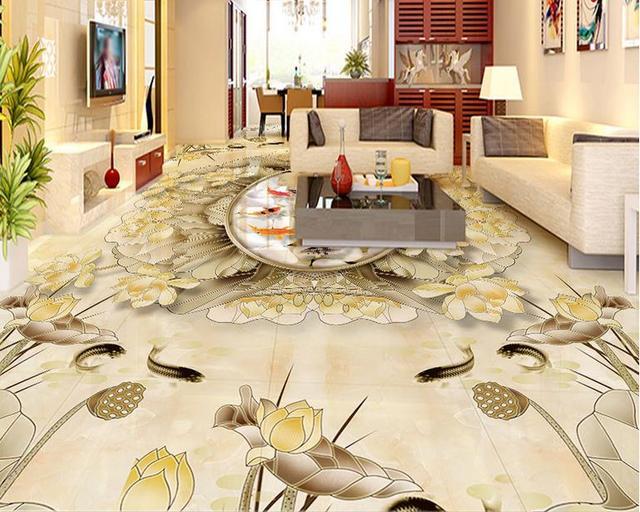 Budget 3d Flooring Mural Wallpaper Marble Pattern Custom Vinyl