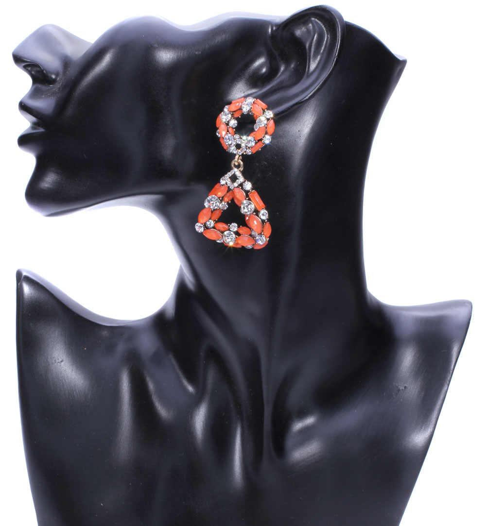 קריסטל stud עגיל Oorbellen 2019 יוקרה תכשיטי חתונת נשים המפלגה אופל עגילי בולגריה tiffan הודי תכשיטים